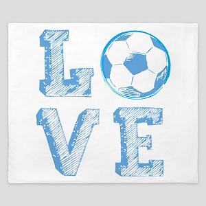 Love Soccer King Duvet