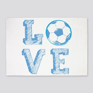 Love Soccer 5'x7'Area Rug