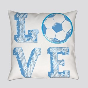 Love Soccer Everyday Pillow