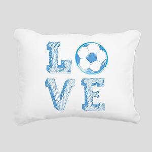 Love Soccer Rectangular Canvas Pillow