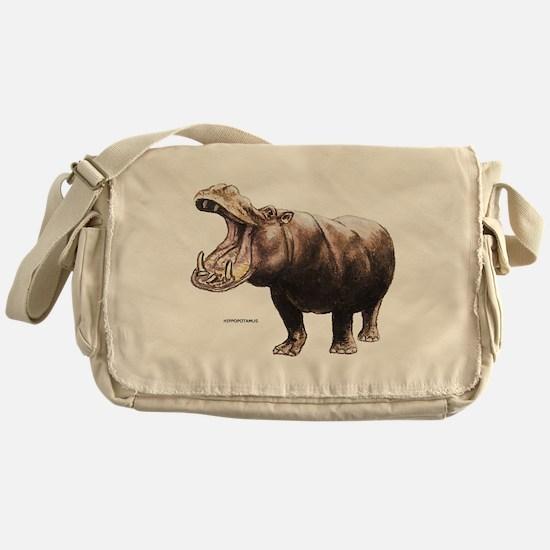 Hippopotamus Animal Messenger Bag