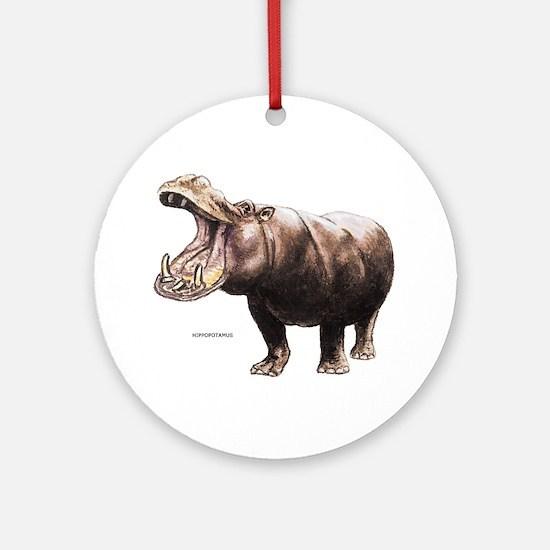 Hippopotamus Animal Ornament (Round)