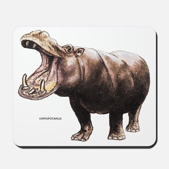 Hippopotamus Animal Mousepad