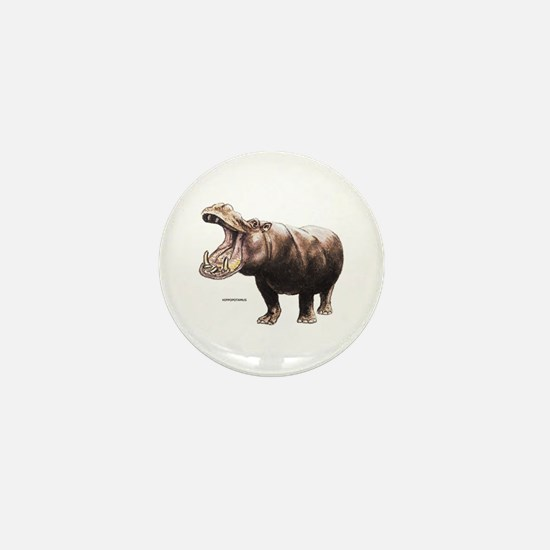 Hippopotamus Animal Mini Button