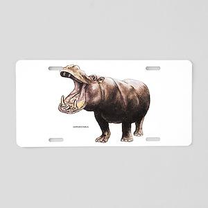 Hippopotamus Animal Aluminum License Plate