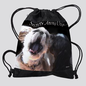 Funny Shih tzu photo SecretsAmongDo Drawstring Bag