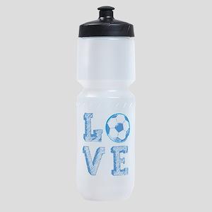 Love Soccer Sports Bottle