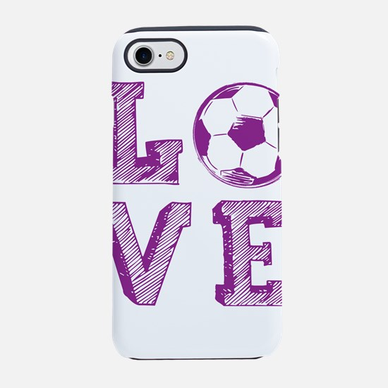 Girly Love Soccer iPhone 7 Tough Case
