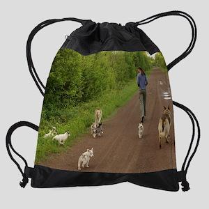 puppies4 Drawstring Bag