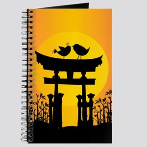Sunset love Birds for special occasions Journal