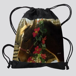 Horse Lover Calendar Drawstring Bag
