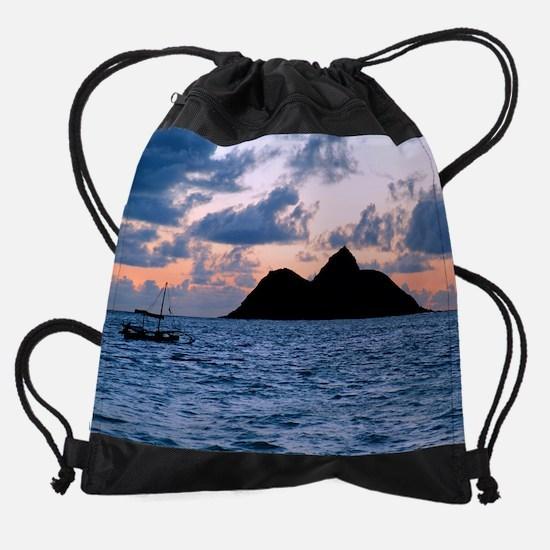 Mokulua Island Dawn Drawstring Bag