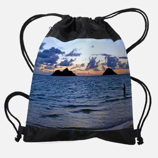 Lanikai Dawn Fisherman Drawstring Bag