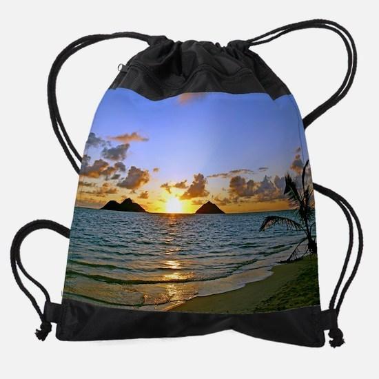 Lanikai Sunrise Drawstring Bag