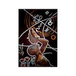 1804 Neg Mawon Rectangle Magnet (100 pack)