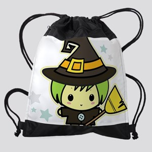 baby witch Drawstring Bag