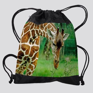 giraffe wildlife animal smalli Drawstring Bag