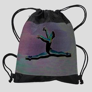 Grand Jete Purple Drawstring Bag