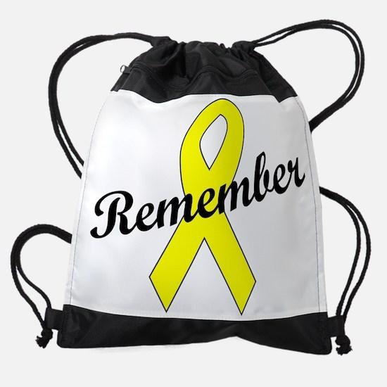 rememberyellow.png Drawstring Bag