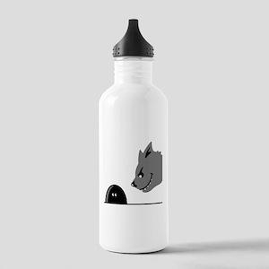 mouse_hunter_cat Water Bottle