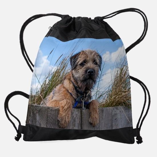 Border Terrier Drawstring Bag