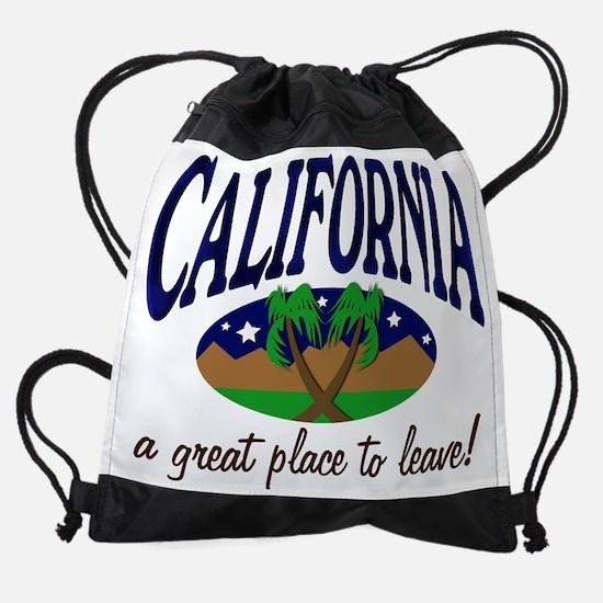 CAleave.jpg Drawstring Bag