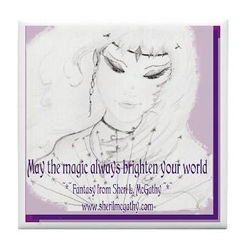 May the Magic Tile Coaster