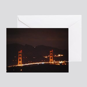 Golden Gate by Night Greeting Card