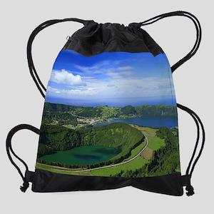 Sete Cidades crater Drawstring Bag