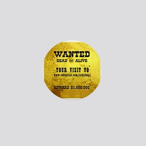 Oshishop Wanted poster Promo Mini Button