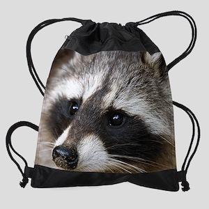 Raccoon mouspad Drawstring Bag