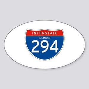 Interstate 294 - IL Oval Sticker
