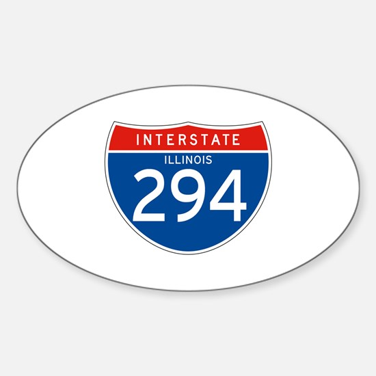 Interstate 294 - IL Oval Decal
