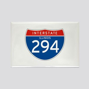 Interstate 294 - IL Rectangle Magnet