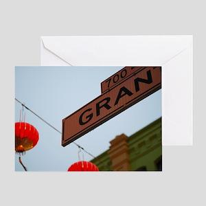 Chinatown in San Fran Greeting Card