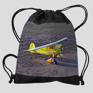 calendar Plane 3 Drawstring Bag