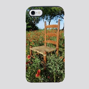 Rawhide Chair In Wildflowers iPhone 7 Tough Case