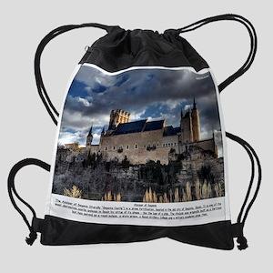 Alcazar-of-Segovia Drawstring Bag