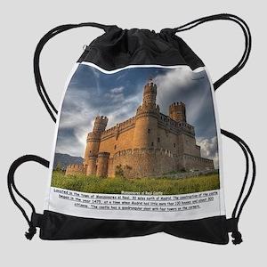 Manzanares el Real Castle Drawstring Bag
