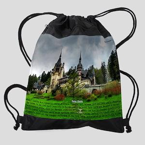 Peles Castle Drawstring Bag