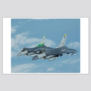 Large Poster of Vermont F-16s taken from tanker
