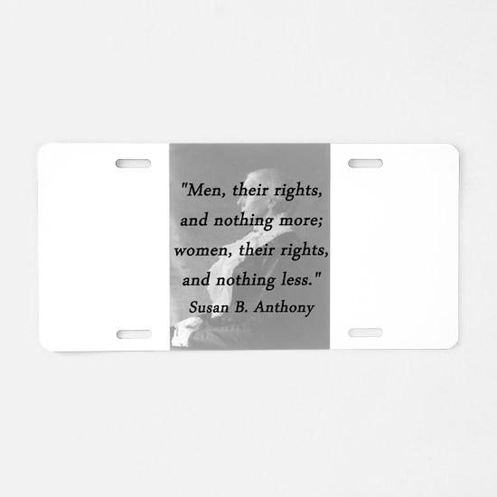 Anthony - Men Women Rights Aluminum License Plate