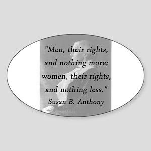 Anthony - Men Women Rights Sticker