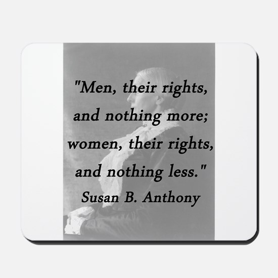 Anthony - Men Women Rights Mousepad