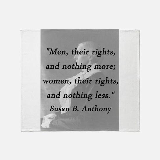 Anthony - Men Women Rights Throw Blanket