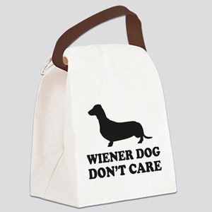 Wiener Dog Don't Care Canvas Lunch Bag