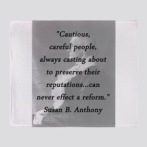 Anthony - Cautious Careful People Throw Blanket