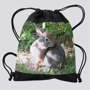 bunny rabbit Drawstring Bag