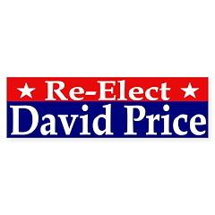 Re-Elect David Price Bumper Bumper Sticker
