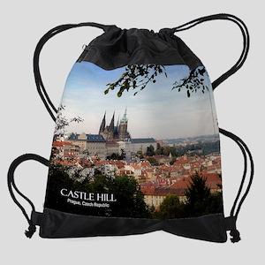 Prague Castle Drawstring Bag